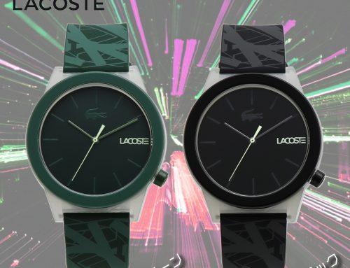 【暗闇で光る腕時計】ラコステ メンズ 発光 腕時計 LACOSTE MOTION モーション GLOW IN THE DARK グリーン ブラック 夜光 カジュアル アナログ表示  ラバーストラップ ユニセックス TR-90